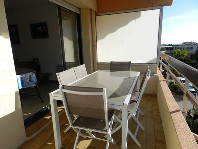 Photo for THE FAVIERE - BEAUTIFUL 3 ROOMS. LARGE TERRACE .150M FROM THE BEACH. 50M shops