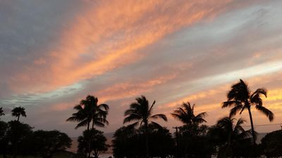 One of many beautiful sunsets from our lanai