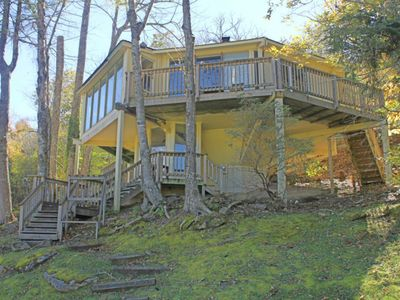 Photo for Ski in/ski out roundhouse w/slope views, spiral staircase & stone fireplace