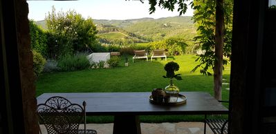 Photo for Fully  renovated  Chianti country home, 10 min from Siena; stunning views