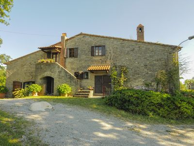 Photo for Large stone house with panoramic views and garden cottages