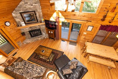 Dixieland Delight is a beautiful secluded mountain home with plenty of room for the whole family!
