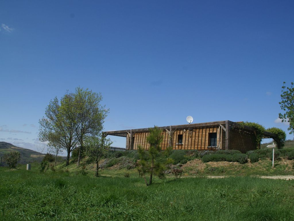 Modern lodge with private swimming pool on hill vineyard for Lodges in france