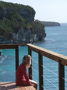 Rugged tall cliffs... some of the highest in the Bahamas