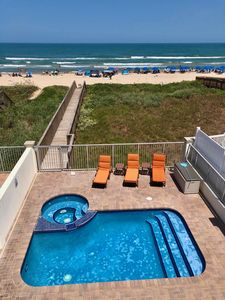 """Photo for """"On"""" the Beach, not  CLOSE! Affordable Luxury. Private Boardwalk, Pool, Hot Tub!"""