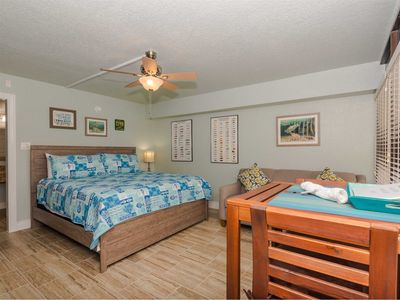 Studio condo with a king sized bed and queen sleeper sofa
