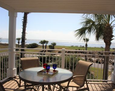 Enjoy the view and the private corner deck