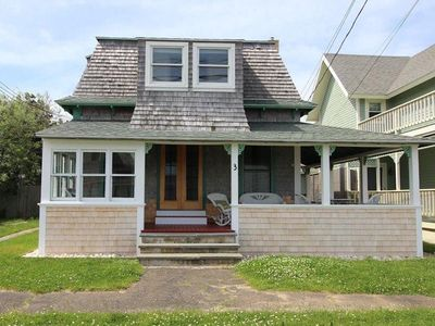 Photo for Charmingly renovated house across from the Beach