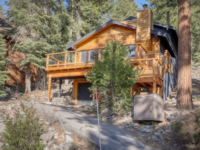 Photo for Quiet home w/ lake views, a private hot tub, shuffleboard, & a wood stove!