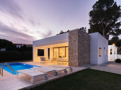 Photo for Modern design Villa 5 min walk to the Beach and to Moraira town - Heated pool