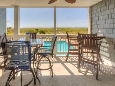 Photo for First Floor Oceanfront Condo with Pool and Large Deck!
