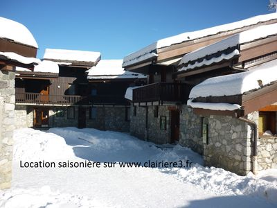 Valmorel apartment (4 people 30 m2) back to the skis .Terrace with porch.