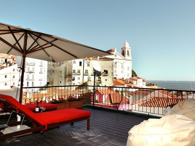 Photo for Best Terrace River view , Alfama Apartment
