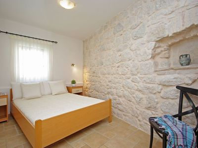 Photo for Stone house Dalmatia in Podaca, apartment 4, bedroom in natural stone, on the 2nd floor