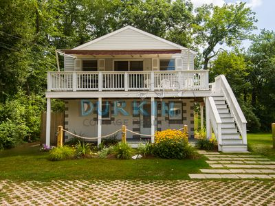 Photo for Modern Cottage, Three Blocks from Beach, Central Air Conditioning, Spacious Deck