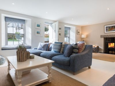 Photo for Sumptuous Luxury Family Town House Sleeps 10 + 1 in heart of St Ives with parking, wifi , some sea v