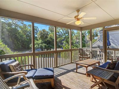 Photo for 1518 Deer Point: Spacious Villa. Marsh Views from Porch/Patio! Walk to Crabbing Dock & Kayak Launch.