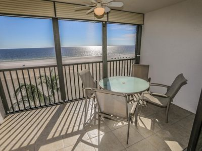 Photo for Sunset #701 is a 2 bedroom, 2 bathrooms beachfront condo located on the southern end of Fort Myers Beach