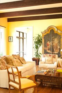 Photo for Spectacular old world villa with garden, pool and view overlooking Santa Monica