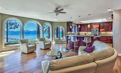 """Photo for Edge"""" Luxurious Lakefront Home with 7000 sf 6 BR, Pool Table"""