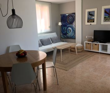 Photo for Charming apartment in Colonia de St Jordi, two minutes from the beach!