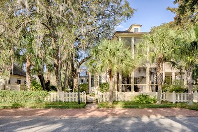 This home is directly across from the River House pool and fitness facilities.