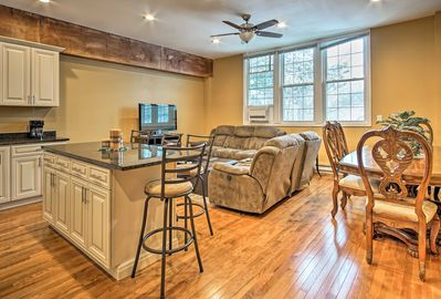 Kick back and relax inside 1,200 square feet of living space.