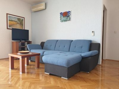 Photo for Four bedroom apartment with terrace and sea view Crikvenica