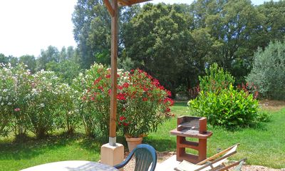 Photo for Porto-Vecchio, independent T2 in villa, covered terrace, garden, air conditioning, Wifi