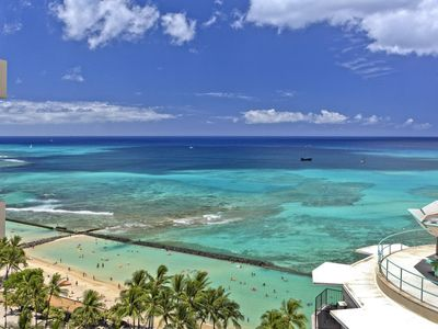Photo for Luxurious Ocean view 2 bed 2 bath condo with pool, spa, parking - sleeps 6