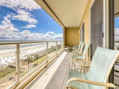 Photo for Serene water view condo with private patio, shared pool and onsite amenities