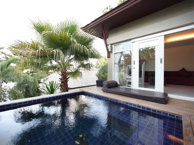 Photo for 1BR Private Pool Villa near the beach