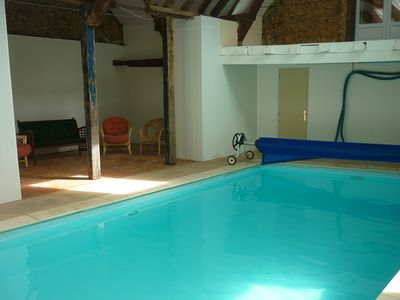 Photo for The small coulonge, 18th century farmhouse with private indoor pool