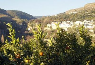 Photo for Renovated village terraced house with private pool and valley views!