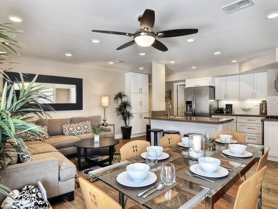 Photo for Bright condo with new kitchen, near the sand, walk to the beach!