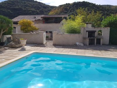 Photo for Mountain Gîte with Private Pool, Olargues, Languedoc Rousillon