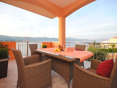 Photo for Two terrace apartment with sea view