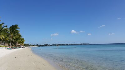 Trou aux biches beach 200m from the Impala Mauritius Holiday flats