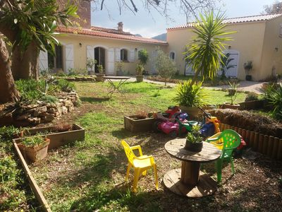 Photo for Villa with above ground pool, children's games in the heart of the creeks. Walking on foot