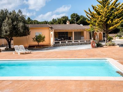 Photo for The house is situated in a quiet location in a small forest. The beach Cala Guya, one of the most beautiful of Mallorca, is approximately 800 meters. After Cala Ratjada, to the town center, is about 500 m.