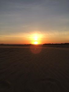 sunset from Jockey's Ridge