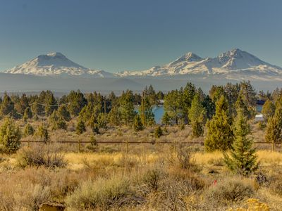 Photo for Beautiful ranch home w/ deck & stunning mountain views - near Sisters & Bend!