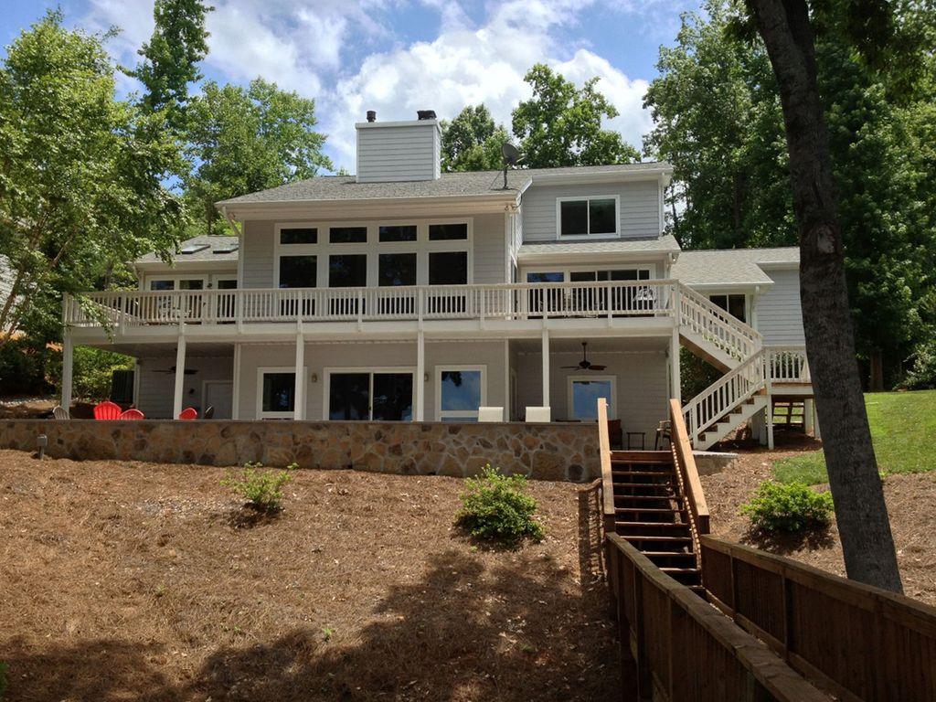 Main lake spectacular views awesome patio homeaway Lake gaston rentals with swimming pool