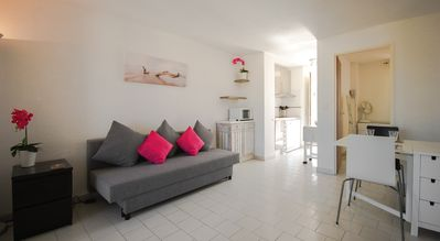 Photo for 3MILES TO SAINT TROPEZ. 2 BEDROOM 1ST FLOOR GATED RESIDENCY POOL CALM BRIGHT