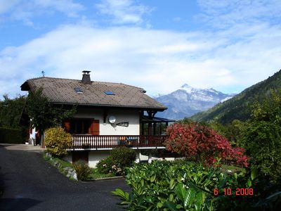 Photo for Apartment in St Gervais overlooking the Mont Blanc - 2 Rooms 6 people