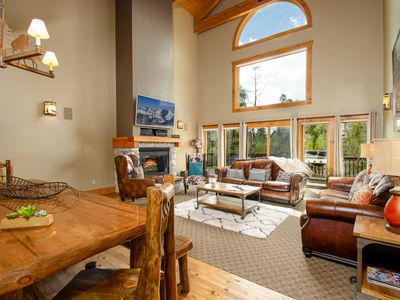 Photo for FLEXIBLE CANCELLATION | Vacation in Massive Luxury Lodge | Two Living Areas | Hot Tub | Game Tables