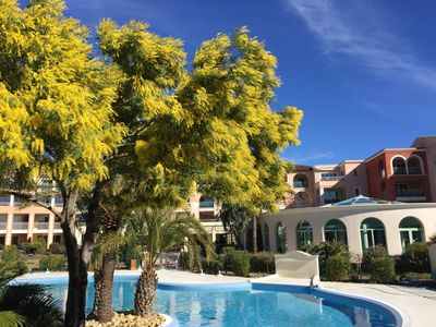 Photo for 3 rooms Luxury Apartmentin for 5 peapole 5 stars résidence LES CALANQUES