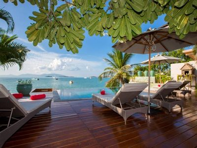 Photo for Baan Lucia - Luxury 3BR beach-front villa, + pool