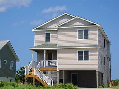 Photo for Lookout: South Nags Head, oceanfront, private pool, hot tub and media room.