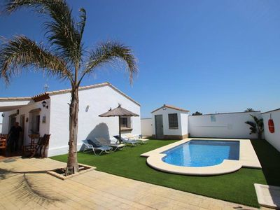 Photo for Private pool, covered furnished terrace, beautiful beaches within 5 minutes by car, air conditioning - Casa Pablo -